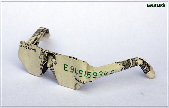 Dollar Bill Glasses.: