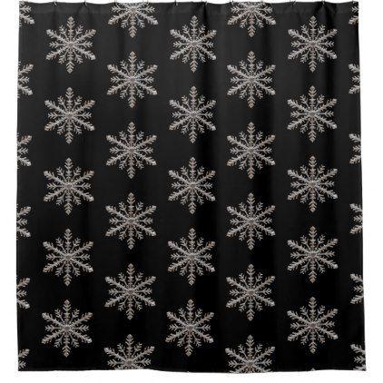 Snowflake Shower Curtain Zazzle Com Bathroom Shower Curtains