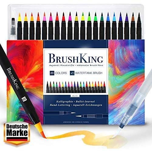 Brushking 20 1 Brush Pen Set Pinselstifte Pinselstift Set Mit