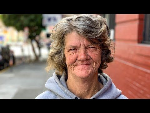 Powerful Story Of San Francisco Homeless Woman Her Dogs And Neighbors That Care Youtube She Dog Homeless Homeless Person