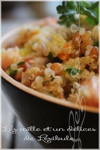 Salade de quinoa, lentilles et abricots