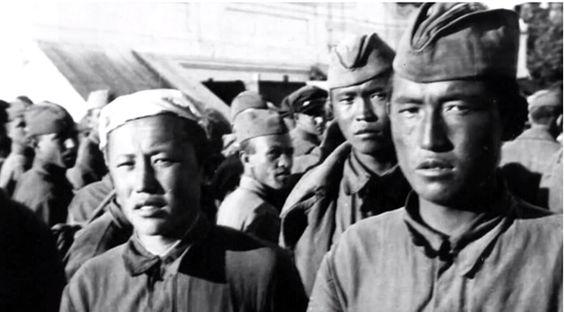 Operación Barbaroja: Soldados soviéticos de las Republicas de Asia Central.