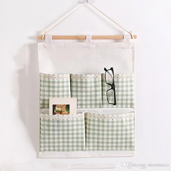 2019 5 Pockets Wall Hanging Organizer Bag Storage Bag Behind Door Sorting Bag From Shunhuico, $2.27 | DHgate.Com