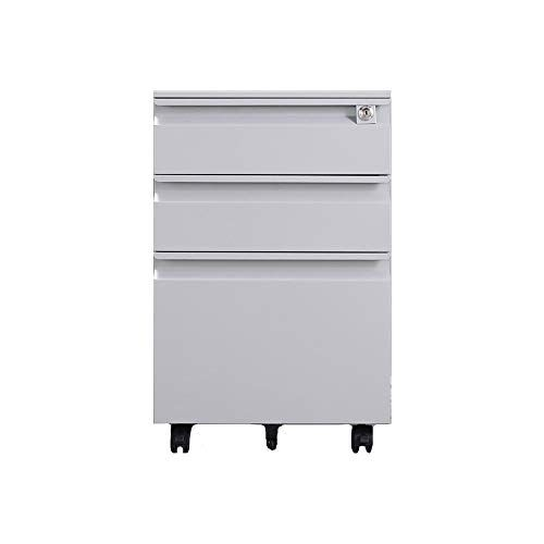 File Cabinet Large Capacity Push Pull Drawer Mobile Iron File Cabinet With Anti Theft Lock Fully Assembled Lo Filing Cabinet Locker Storage Mobile File Cabinet