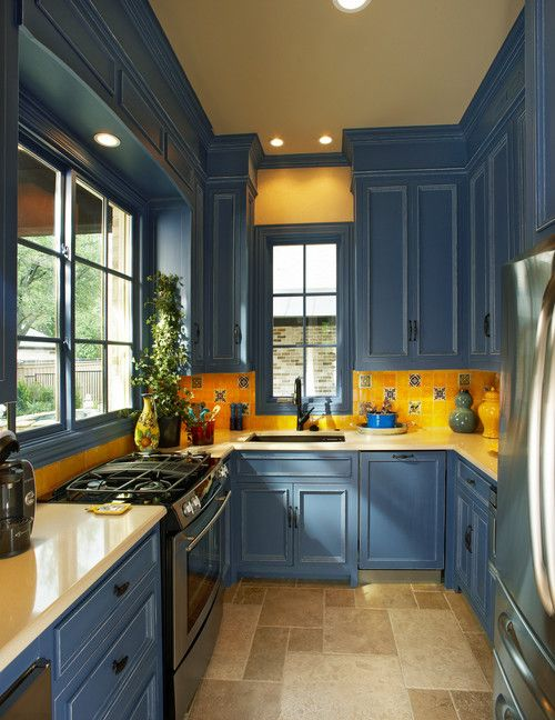Classic Blue Announcing The Pantone Color Of The Year Town Country Living Yellow Kitchen Walls Yellow Kitchen Decor Interior Design Kitchen