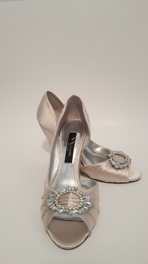 Nina New York Ivory Crystal Wedding Wedge Shoes Size 7 Fashion Clothing Shoes Accessories Womensshoes Heel Wedge Wedding Shoes Wedge Shoes Wedding Wedges