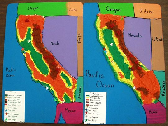 Dough map recipe on salt dough project california regions map, 3d landform project map, create your own island project map,