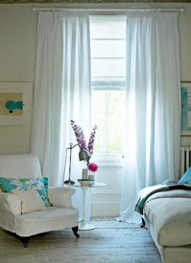 pau_theseagreenjournal (drapes_semi-sheer curtains and roman ...