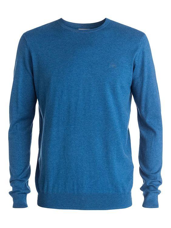 Kelvin Crew - Quiksilver Sweater für Männer  Dieser Sweater von Quiksilver ist Teil der Kollektion 2015 und besticht mit: Regular Fit, Super-weicher Feinstrick und Rundhalsausschnitt mit Rippstrickbündchen.  Merkmale:  Sweater, Regular Fit, Super-weicher Feinstrick, Rundhalsausschnitt mit Rippstrickbündchen, Kontrast Logo-Stickerei auf der Brust,  Dieses Produkt besteht aus:  100% Baumwolle,  ...