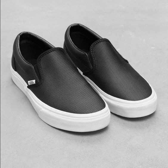 gray vans womens leather