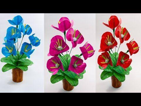 Kerajinan Tangan Bunga Dari Sedotan Kreatif Diy Easy Straw