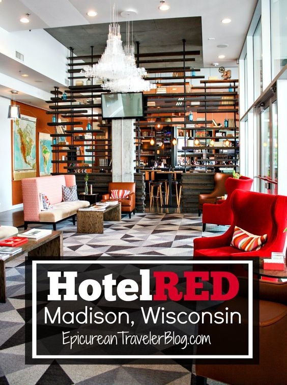 Hotelred Hip Hotel In Wisconsin College Town Hotels Affordable Boutique