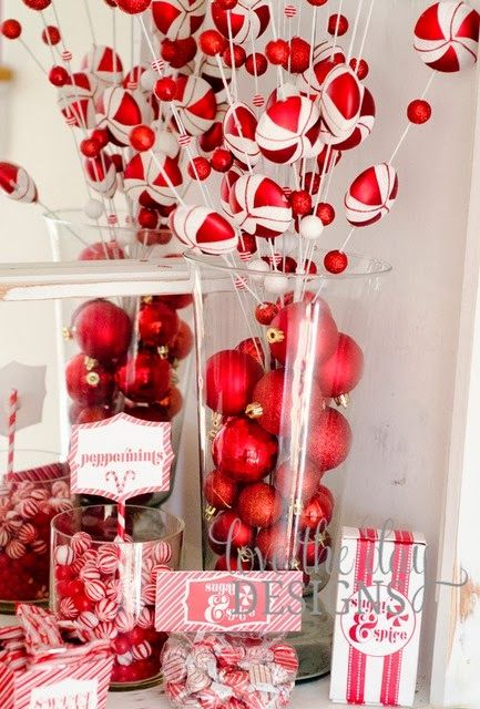 Make A Peppermint Candy Bar At Your Christmas Party