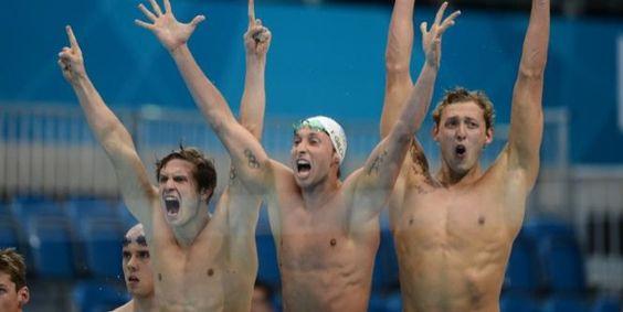 Olympic Games London 2012  French Gold Winner    Swimming 4x100m    Yannick Agnel, Clément Lefert, Fabien Gilot & Amaury Leveaux