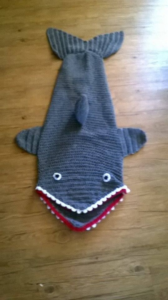 Knitting Pattern Shark Sleeping Bag : Bags, Sharks and Lol on Pinterest