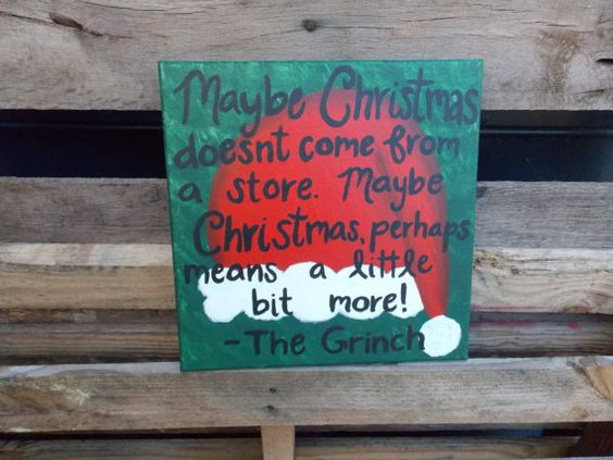 The Grinch Christmas Quote by SouthernClothCo on Etsy