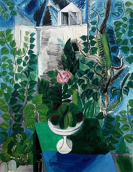 Jardin et maison au Havre - Raoul Dufy...