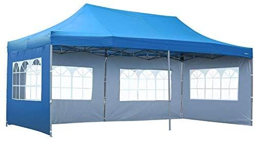 Amazon Com Outdoor Basic 10x20 Ft Wedding Party Canopy Tent Pop Up Instant Gazebo With Removable Sidewalls And Windows Red In 2020 Gazebo Tent Gazebo Party Canopy