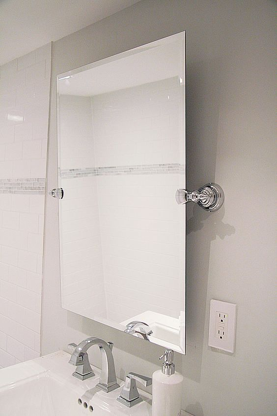 diy pivoting mirror bathrooms benjamin 16358