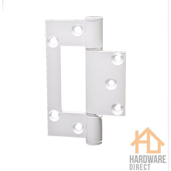 Mccallum Tapered Aluminium Interfold Door Hinge White Tools Hardware Safety Safetyfirst Construction Metallic Fastening Do Door Hinges Hinges Doors