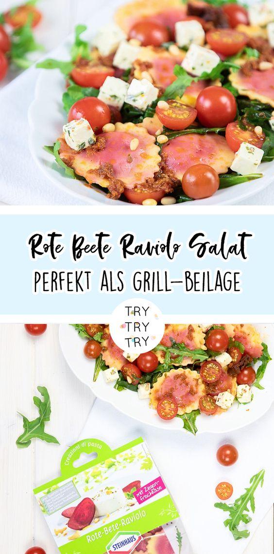 Mediterraner Rote-Bete-Raviolo-Salat: Perfekt für die Grillsaison