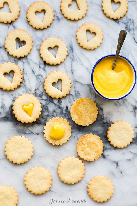 Grapefruit coconut cookies - like linzer cookies but made with grapefruit curd and buttery coconut cookies