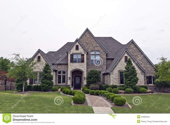 Rock And Stone Homes Beautiful Two Story Luxury Brick Stone House