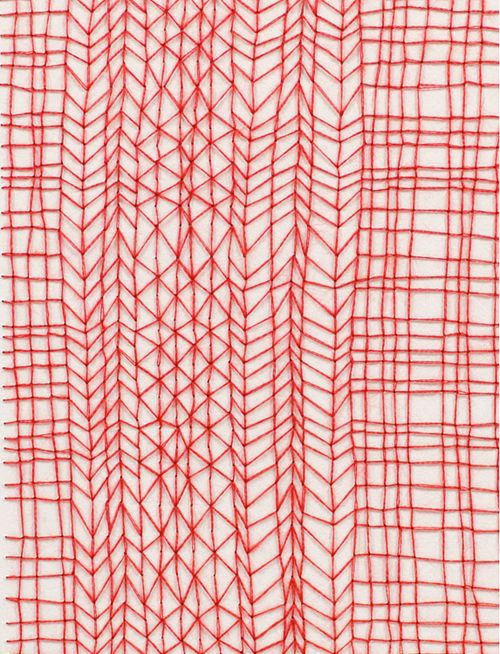 sketchy red pattern