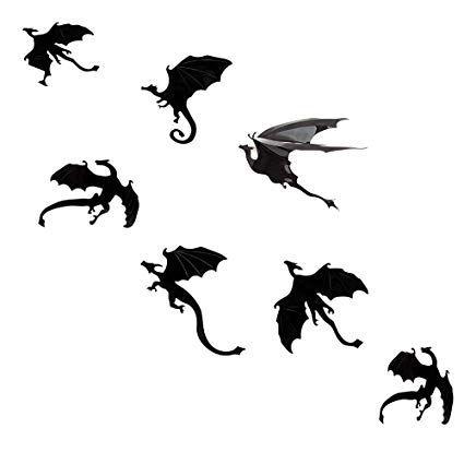 Megrocle 3d Dragon Wall Decor Diy Scary Black Dragon Wall Decals Removable Window Stickers Halloween P Small Dragon Tattoos Dragon Tattoo Designs Dragon Tattoo