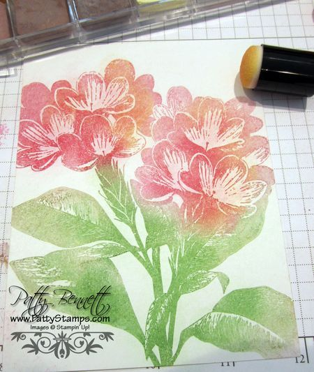 How to use pastels and versa mark pad with stamps