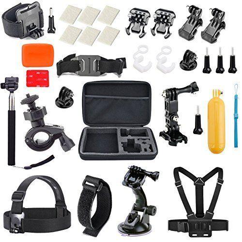 Vanwalk 15-in-1 Outdoor Sports Accessories Kit for Gopro Hero 4 332 camera Chest Mount Harness / Bike Mount / Selfie Stick / Head Strap / Gopro Case