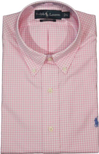 http://theworldepost.com/pinnable-post/polo-ralph-lauren-custom-fit-gingham-cotton-poplin-xx-large-pinkwhite The epitome of preppy style, this trim-fitting gingham shirt in crisp cotton is the perfect addition to the gentleman's wardrobe.