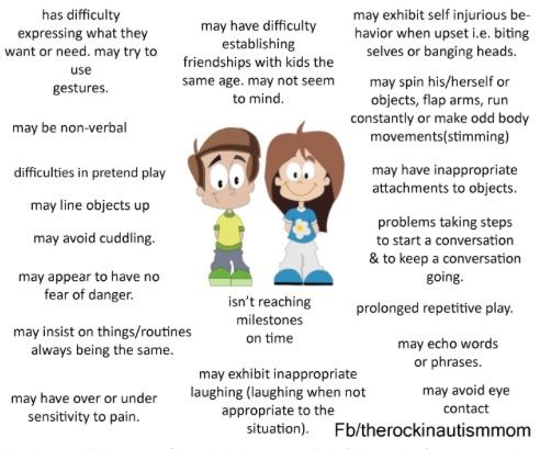 Autism signs in toddlers
