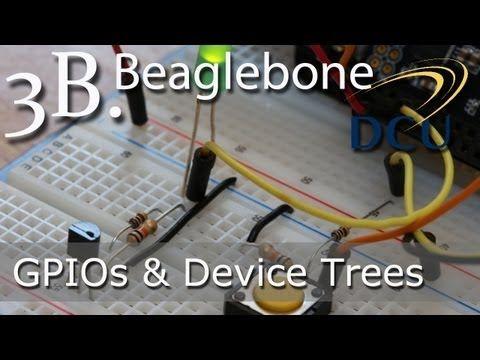 Beaglebone: Introduction to GPIOs - Using Device Tree Overlays under Linux 3.8+ - YouTube