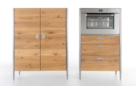 Liberi in Cucina kitchen storage units. Designed by Karim Rashid. Manufactured by Alpes.