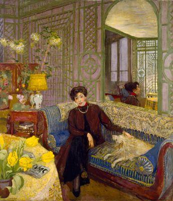 ◇ Artful Interiors ◇ paintings of beautiful rooms - Vuillard - Marcelle Aron