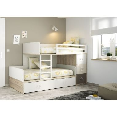 lits superpos s train avec tiroirs et lit gigogne cv pinteres. Black Bedroom Furniture Sets. Home Design Ideas