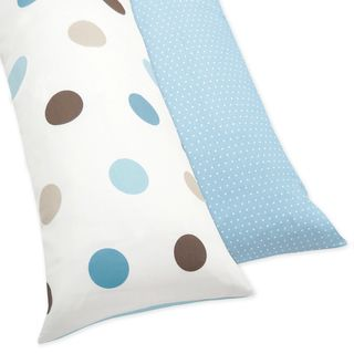 @Overstock.com - This reversible dot-style cotton body pillow case adds that special touch to any room. The cover is especially designed to fit the matching White Cloud Down Alternative Body Pillow and made to coordinate with Sweet JoJo Designs bedding sets.http://www.overstock.com/Bedding-Bath/Blue-and-Brown-Mod-Dots-Full-Length-Double-Zippered-Body-Pillow-Case-Cover/7588765/product.html?CID=214117 CAD              26.60