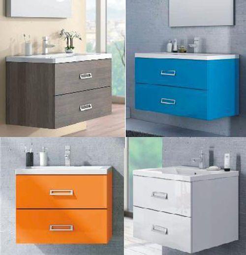Mobile bagno in 30 colori o in legno per arredo moderno con lavabo ...