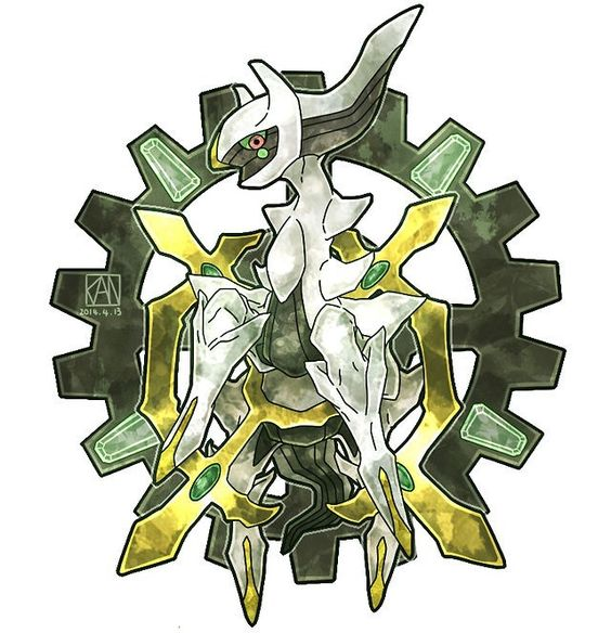 Arceus. the pokemon who created the pokemon world