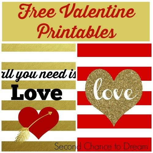 Second Chance to Dream: Free Valentine Printables #TriplePFeature