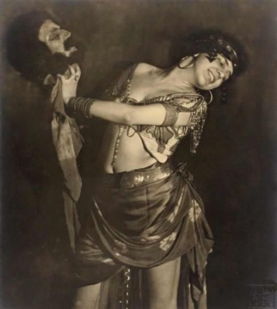 Frantisek Drtikol. Ervina Kupferova as Salome with the Head of John the Baptist Via artnet: