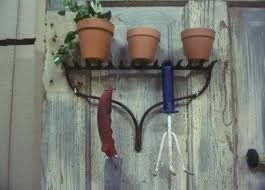 Shelving made from an old rake!