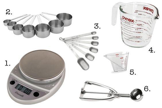 Utensílios para pesar e medir - Cozinha profissional e básico - Novas Dicas