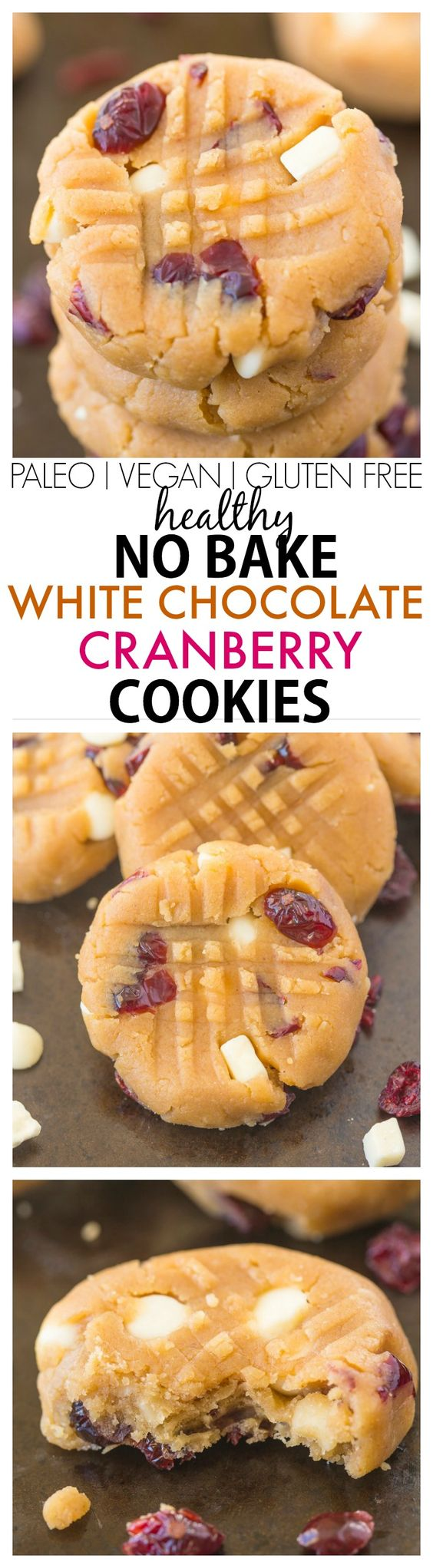Healthy no bake white chocolate cranberry cookies no for Quick easy healthy dessert recipes