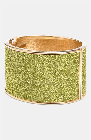 Green Glitter Bangle: Bangles Bobbles, Bangle Stunning, Shades Green, Jewelry, Necklaces Bracelets, Shades Of Green, Glitter, Women Fashions, Bracelet Cuffs