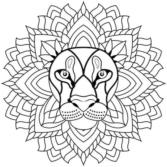 Coloriage Mandala Lion En Ligne Gratuit A Imprimer Coloriage