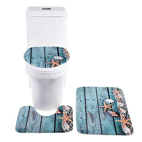 Snakell 3 Pcs Ensemble Salle de Bain Tapis Contour WC Tapis de Bain Antid/érapant Couvre Couverture de Toilette Tapis de Sol Tapis de Bain Toilette Trois pi/èces