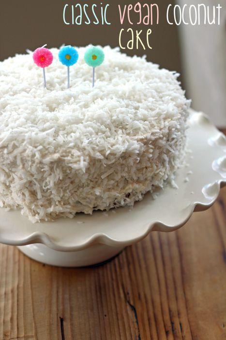 Classic Vegan Coconut Cake | The Fit Nut
