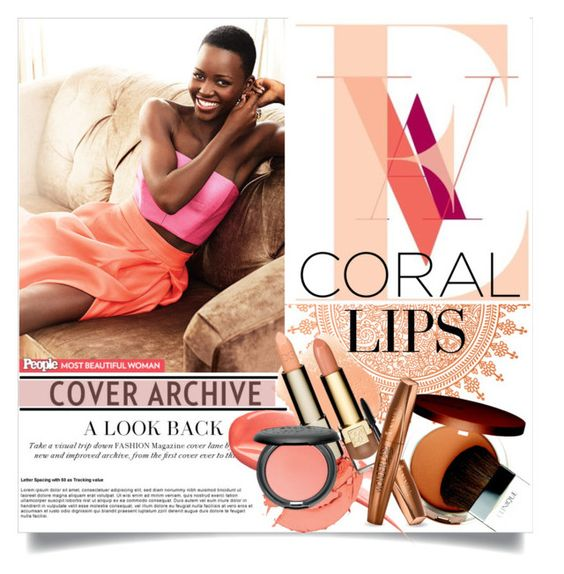 """""""Coral Lips"""" by clotheshawg ❤ liked on Polyvore featuring beauty, Clinique and Hourglass Cosmetics"""